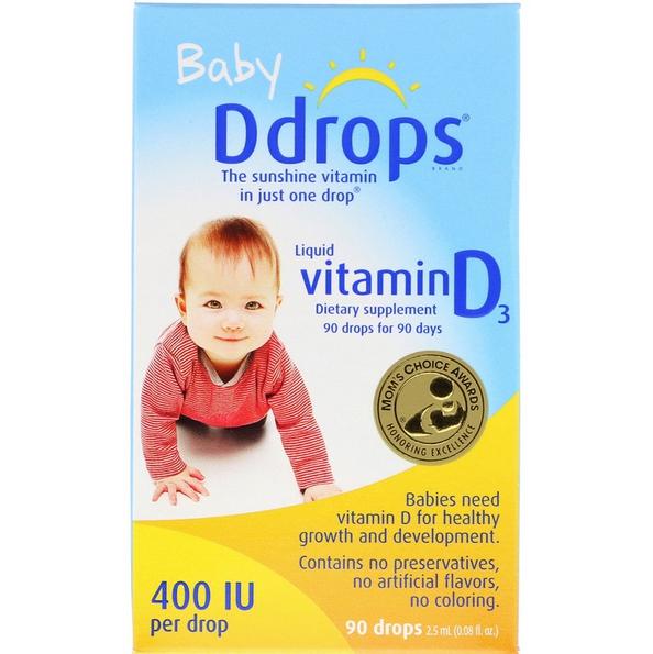 Ddrops, Жидкий витамин D3 для детей review