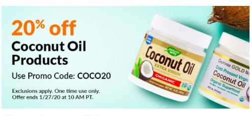 кокосовое масло айхерб скидка