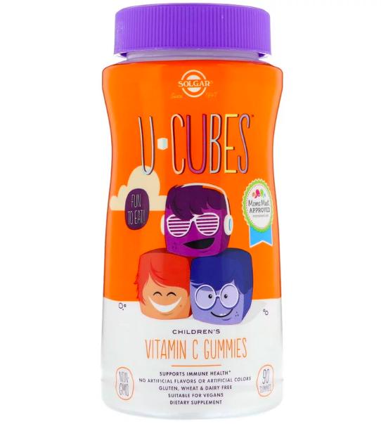 Solgar, U-Cubes, витамин C, апельсин и клубника review