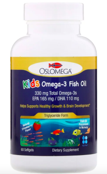 Oslomega, Norwegian Kids Omega-3 Fish Oil, клубничный вкус review