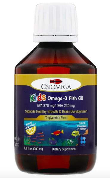 Oslomega, Норвежская серия, рыбий жир с омега-3 для детей, лимонный вкус review