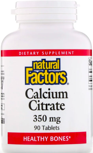 Natural Factors, Цитрат кальция, 350 мг review